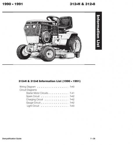 tractor 1990 312-h wiring detailed  492-4509 pdf - 1985-1990