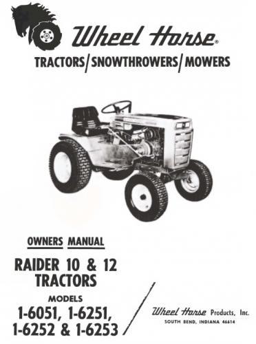 Tractor 1970 Raider 10  U0026 12 D U0026a Om Wiring Sn Pdf - 1965-1972