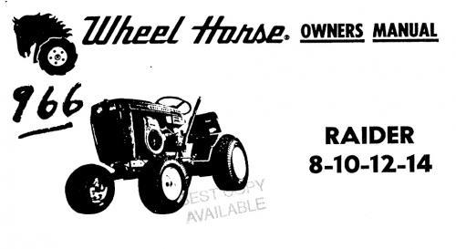 Tractor 1972 Raider 8  10  12  U0026 14 D U0026a Om Wiring Sn Pdf