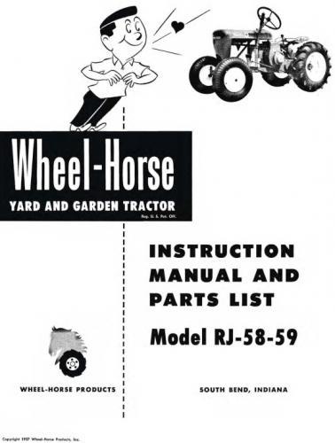 tractor 1958-1959 rj-58  u0026 rj-59 d u0026a om ipl sn pdf - 1955-1964