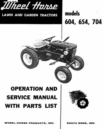 Wheel Horse 604 : Tractor d a om ipl wiring sn pdf