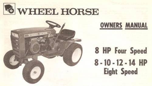 Tractor 1973 8-spd 8hp 10hp 12hp 14hp 8-speed Om Wiring Pdf - 1973-1977