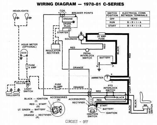 wheel horse electric lift wiring diagrams