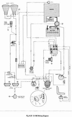 tractor 1979 d-160 auto wiring only pdf