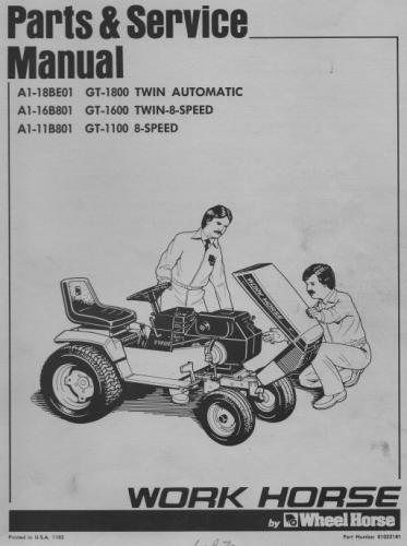 Tractor 1984 Gt-series Ipl Sm Wiring Pdf - 1978-1984