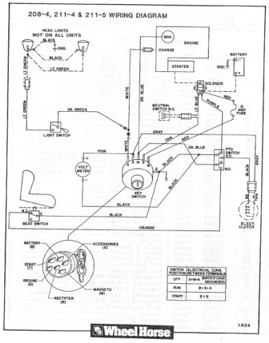 Wheel Horse 312 8 Wiring Diagram Somurichcom