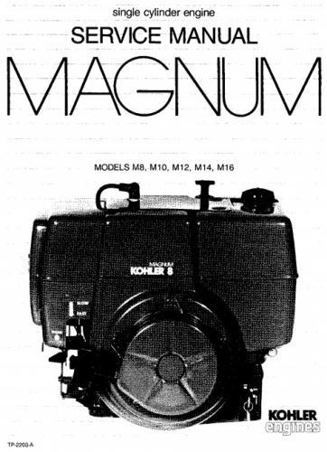 Engine Kohler Magnum M 8 M10 M12 M14 M16 SM #TP-2203-A.pdf