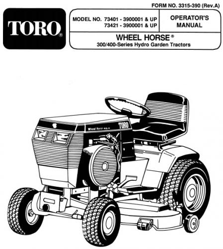 1991 1997 redsquare wheel horse forum lawn mower engine diagram tractor 1994 416 h d&a om wiring sn pdf