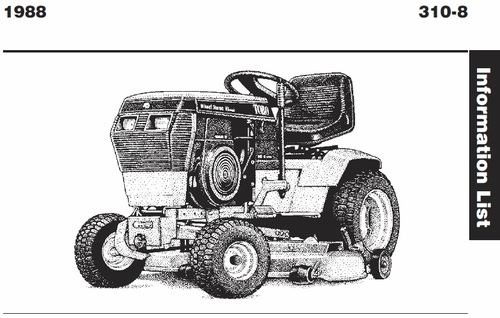 tractor 1988 310-8 wiring pdf - 1985-1990