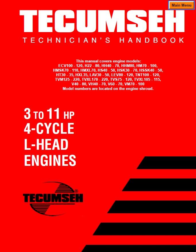 engine tecumseh 3hp 11hp flat head sm 692509 pdf other rh wheelhorseforum com Tecumseh Engine Parts List Tecumseh 3.5 HP Engine