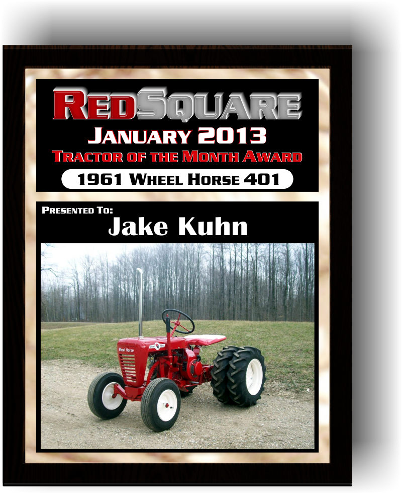 TRACTOR OF THE MONTH JANUARY 2013 JAKE KUHN'S 1961 401