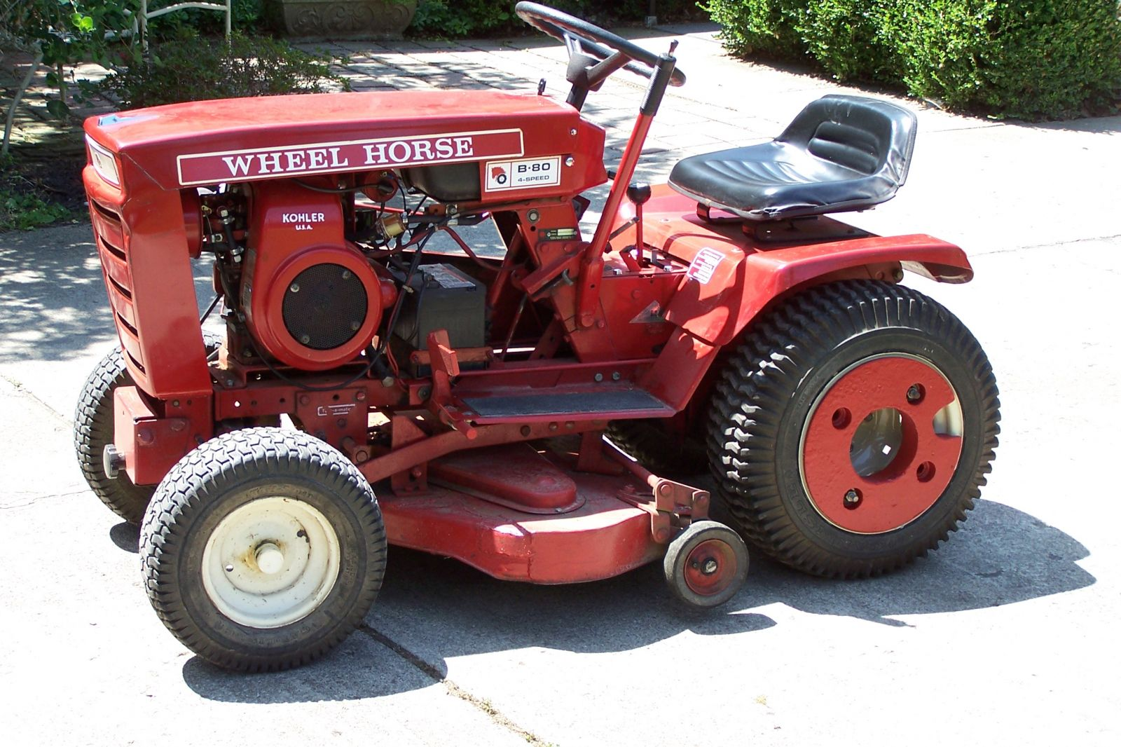 Wheel Horse Tractors : Should i take off the wheel weights implements and