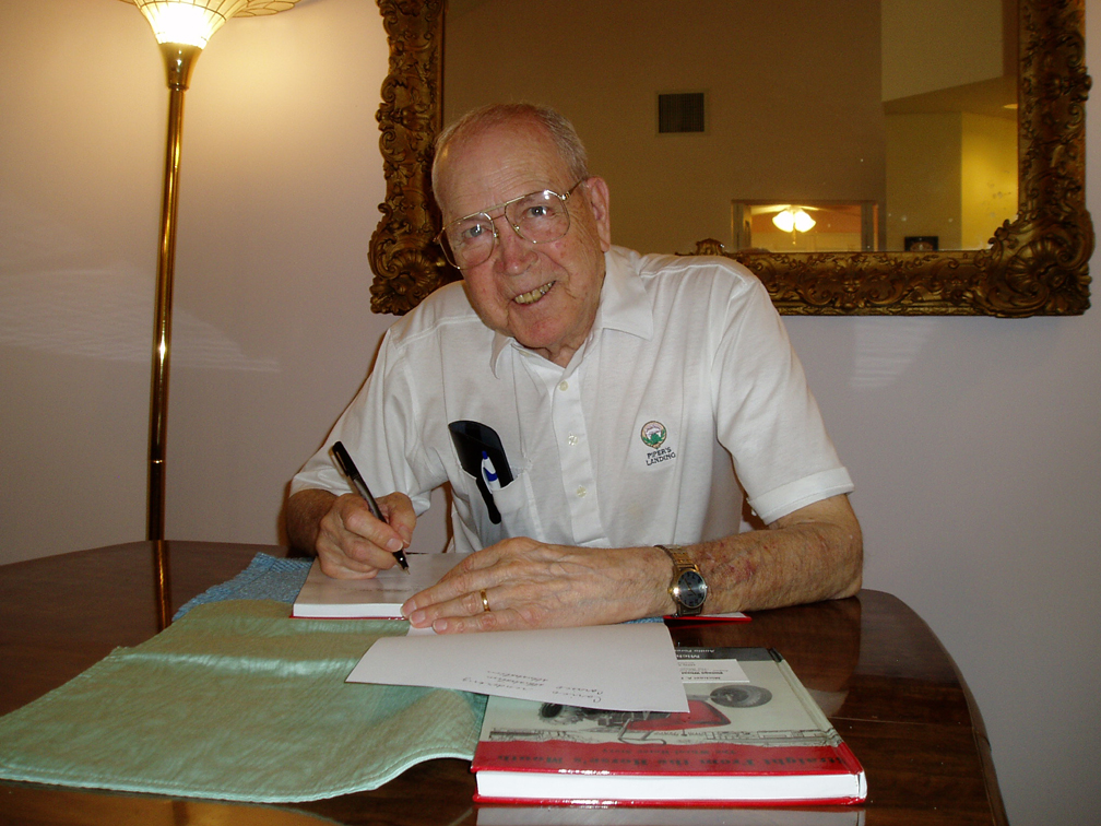 Cecil signing books FL Bettys Memorial Mar 2010