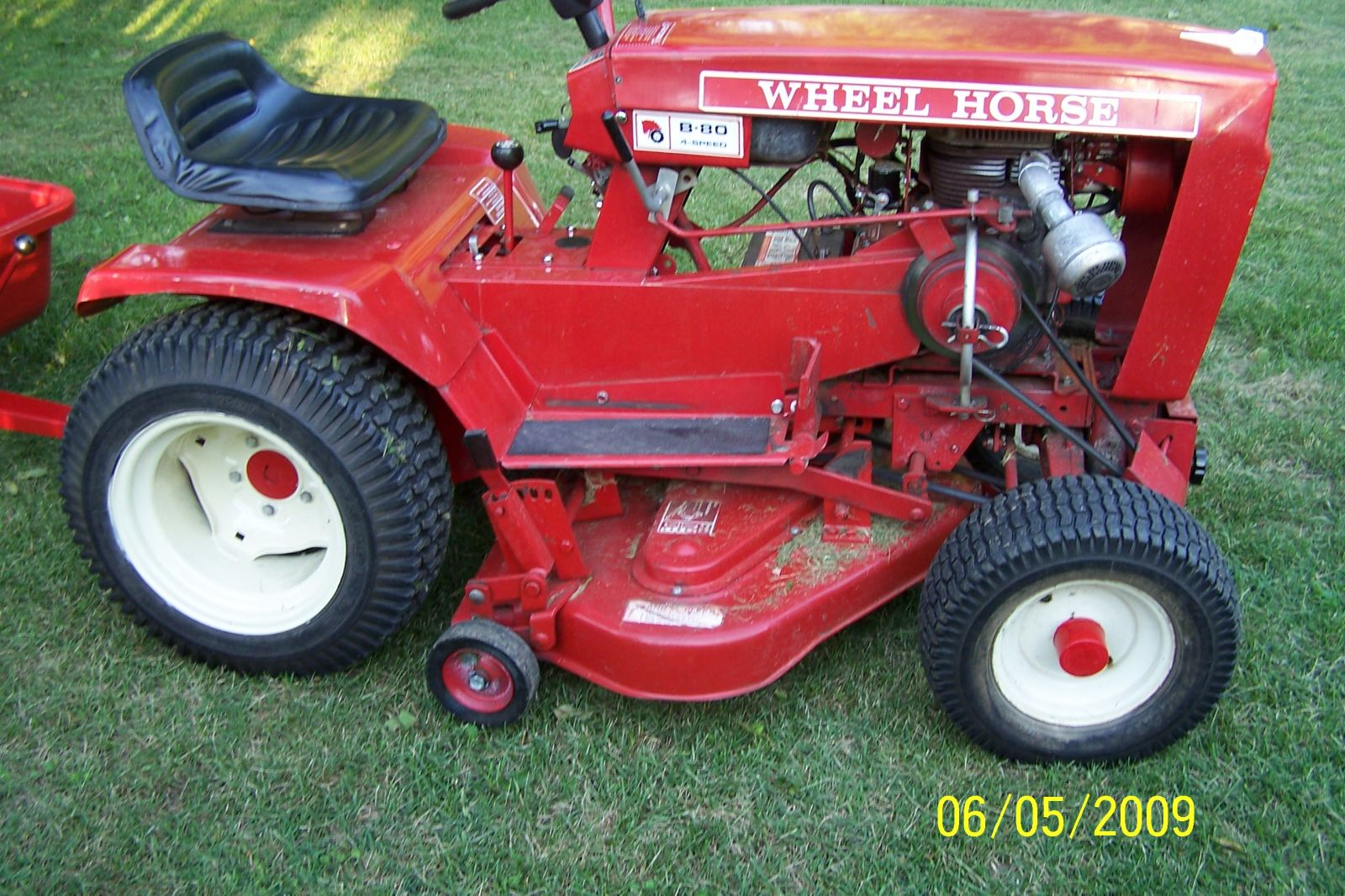 1975 Wheel Horse B-80 Tractor, Model No:  1-0141 with Wheel Horse Dump Cart Attached