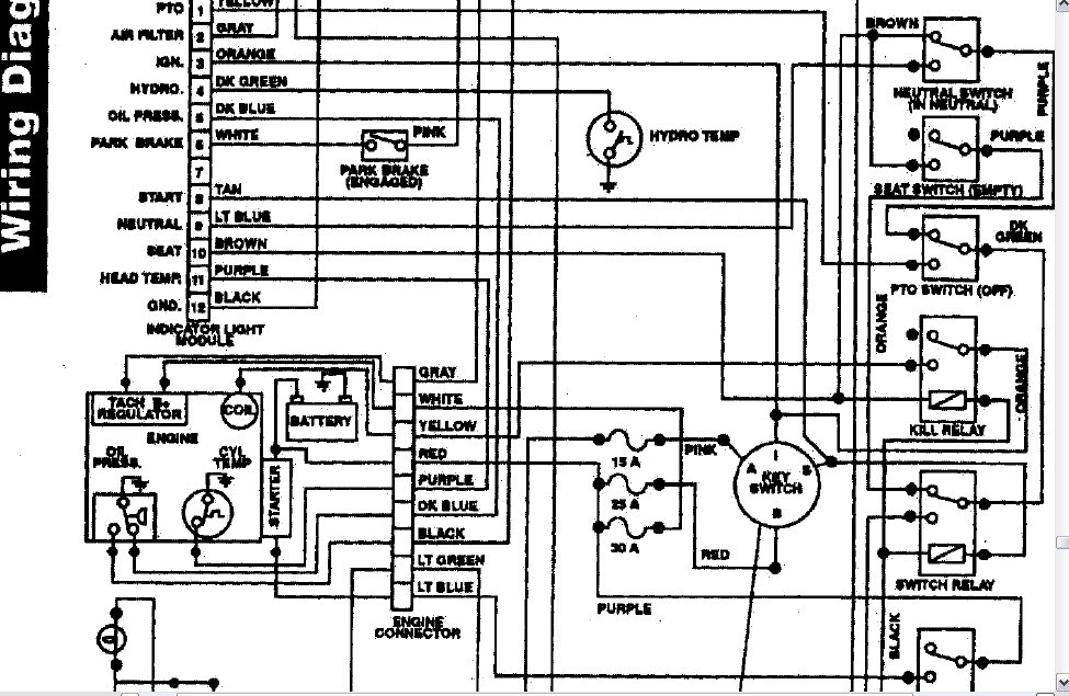 wiring diagram needed for 1995 520 - wheel horse electrical