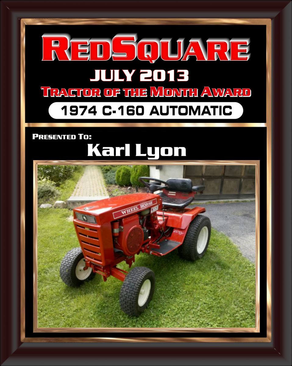 July Tractor Of The Month Award