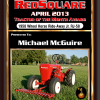 april tractor Of month plaque Michael McGuire