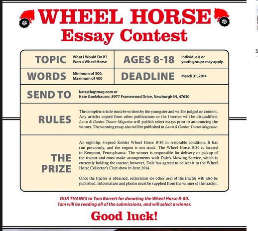 monthly essay contest Scholarship contests & sweepstakes  check out our examples of scholarship contests and sweepstakes that we think are  essay contest participants are asked to.
