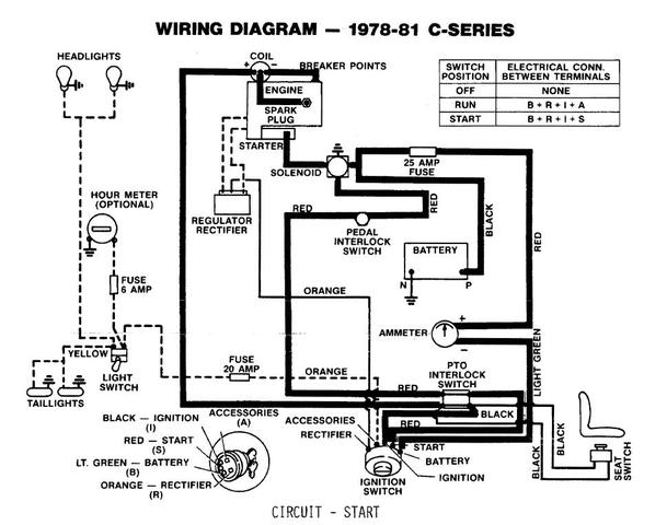 wheel horse c105 wiring diagram