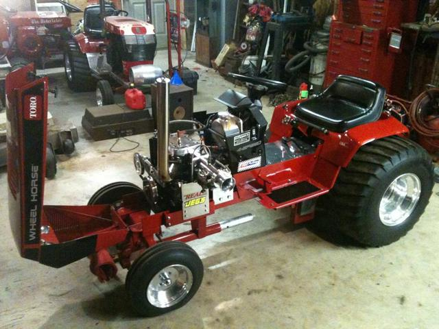 Garden Tractor Pullers : Wheel horse super stock pulling tractor pullers