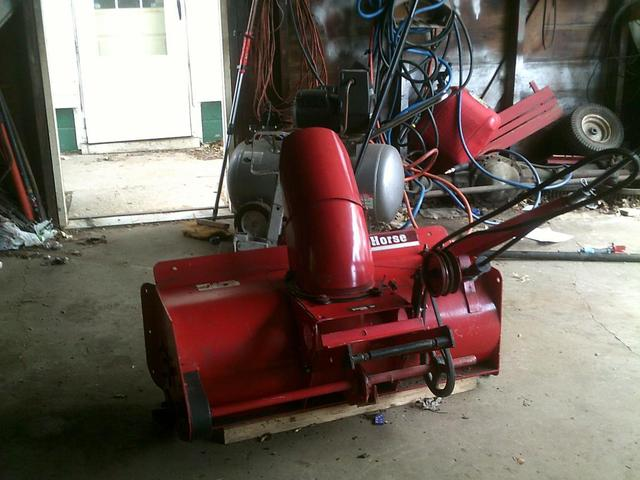Wheel Horse Snow Blowers : Will snow blower fit c implements and attachments