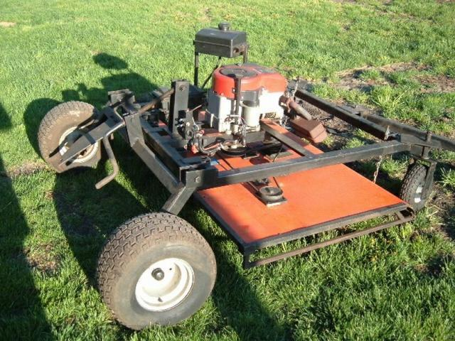 Homemade Mower Deck Implements And Attachments