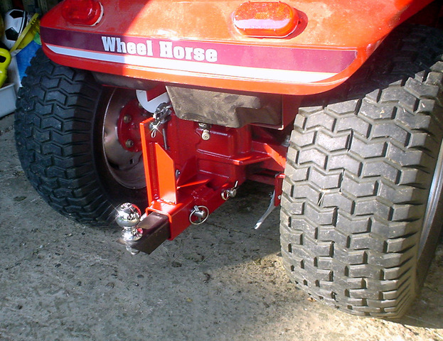 Rear trailer hitch on my 520 that lifts - Wheel Horse ...