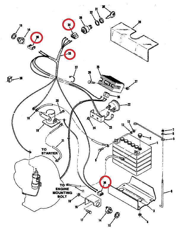 c-120 wiring harness  - wheel horse tractors