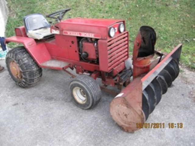 Wheel Horse Snow Blowers : Snow blower attached wheel horse tractors redsquare
