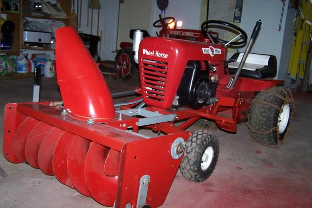 Wheel Horse Snow Blowers : Put a new drive belt on snowblower implements and