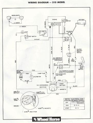 Toro Wheel Horse Wiring Diagram: 310-8 will not start HELP - Wheel Horse Electrical - RedSquare ,Design