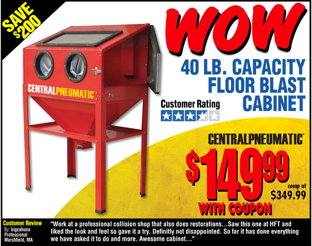 blast cabinet - really a deal? - non tractor related discussion ...