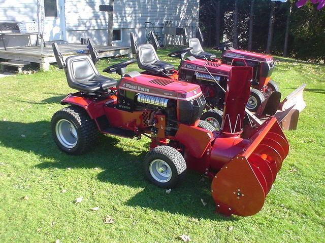 Wheel Horse Snow Blowers : Snow thrower implements and attachments redsquare