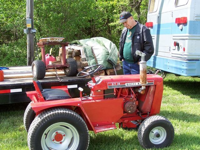 Wheel Horse Gt14 : Attach a matic gt implements and attachments