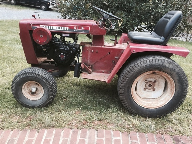 Wheel Horse Gt14 : Gt repower wheel horse tractors redsquare