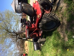My red garden tractor