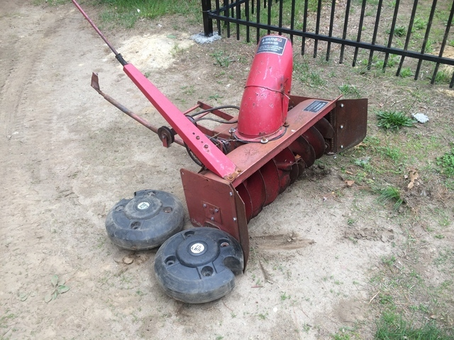 Wheel Horse Snow Blowers : Wheel weights snow blower horse sold archive