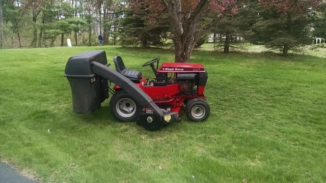 Wheel Horse Tractor Attachments : With all attachments wheel horse sold archive