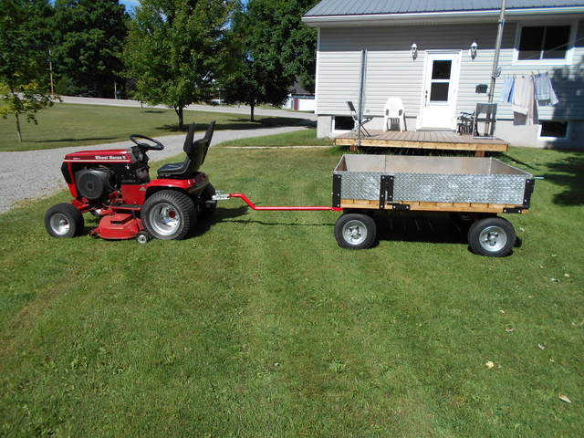Four Wheeler Pulling Wagon : Building a wagon to pull behind wheel horse page