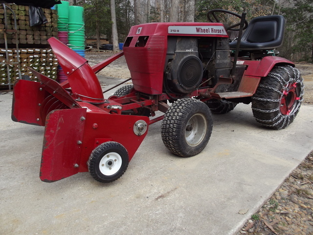 Wheel Horse Snow Blowers : Switching to snowblower implements and attachments