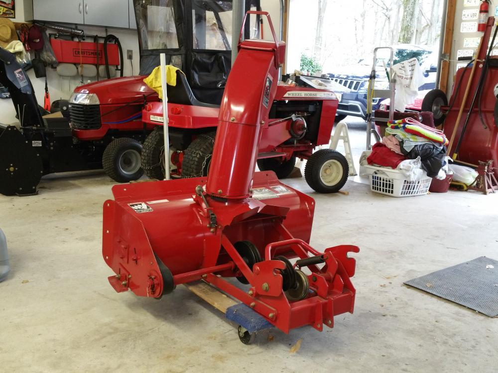 Wheel Horse Snow Blowers : New xi snow blower implements and attachments