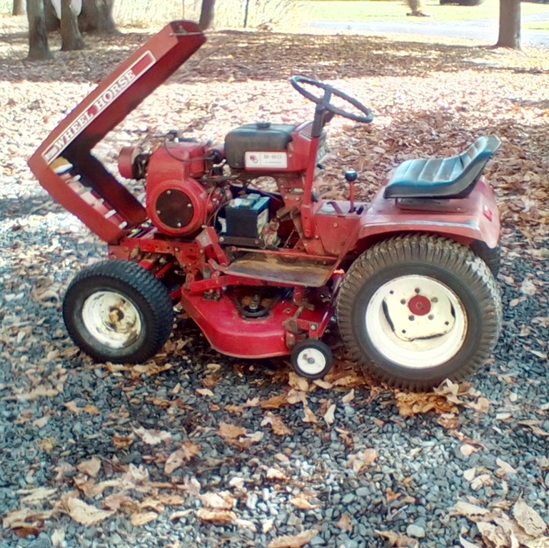 Wheel Horse Tractor Engines : Wheel horse b lawn tractor quot rear discharge
