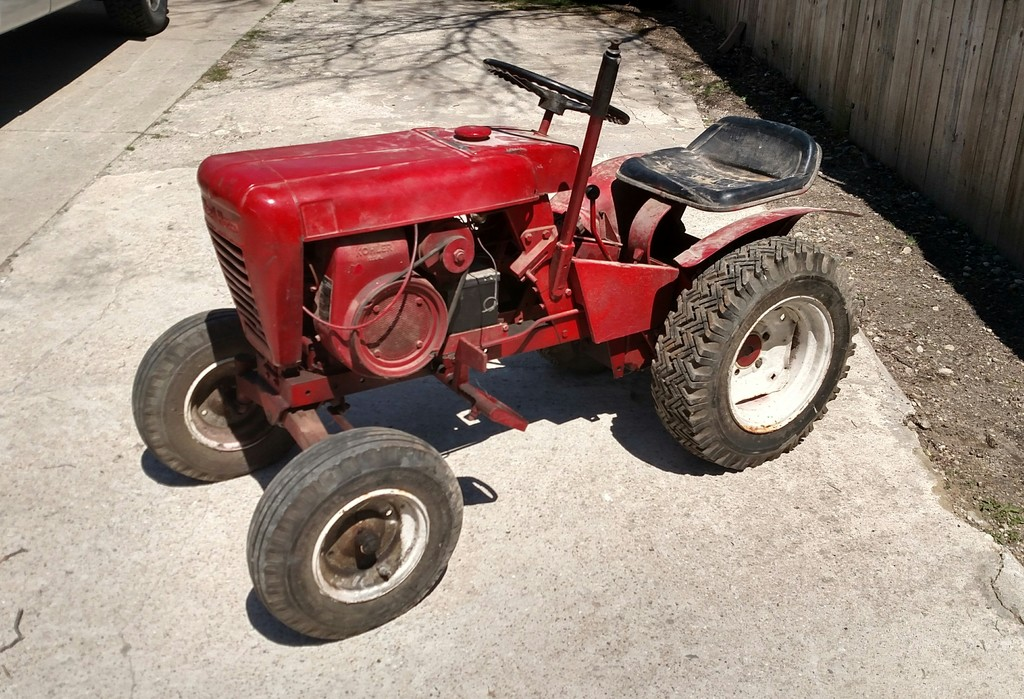 1966 753 Wheel Horse Tractor : Barn find today wheel horse tractors redsquare