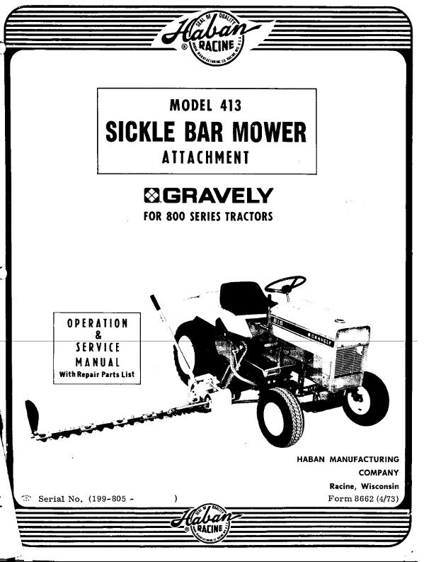 Mower Sickle Side 48in Haban 413 OM IPL pdf - Mower decks & reel