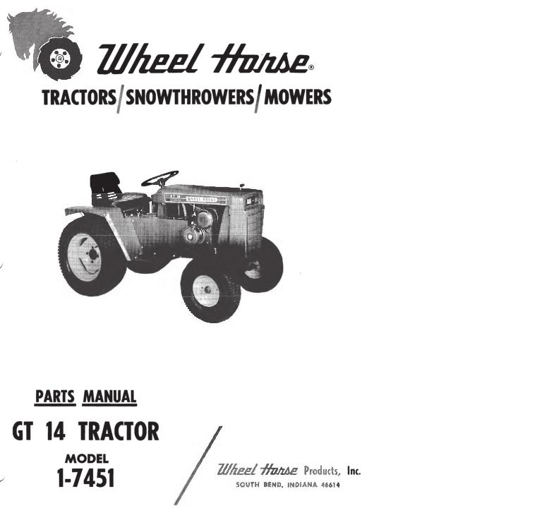 Tractor 1970 GT-14 D&A IPL SN pdf - 1965-1972 - RedSquare