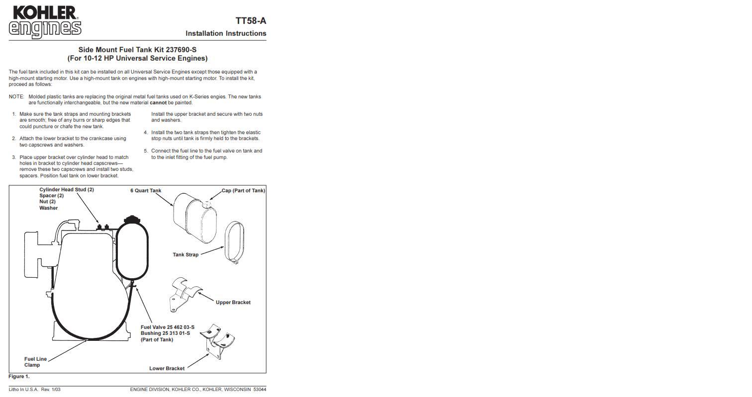 Engine Kohler Product service bulletins pdf - Kohler
