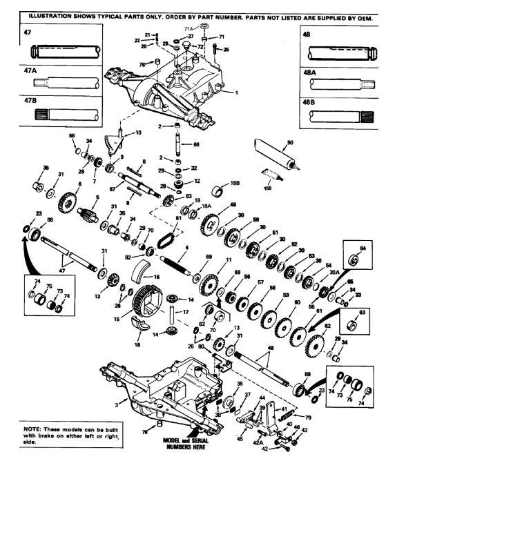 transmission gear peerless 920-009 ipl sm pdf - manual - redsquare wheel  horse forum