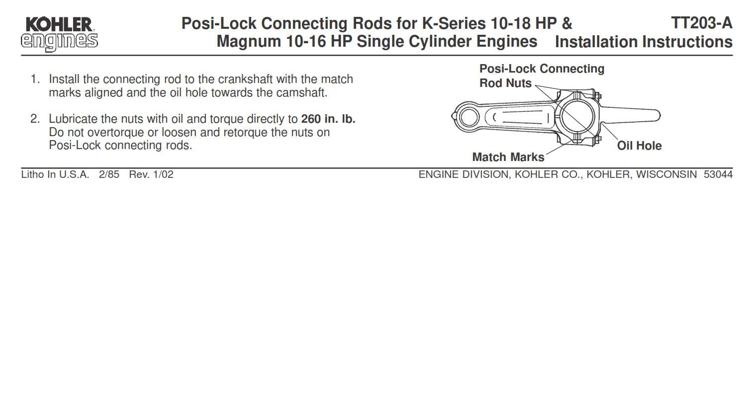 Engine Kohler Product service bulletins pdf - Kohler - RedSquare