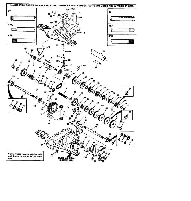 Transmission Gear Peerless 920-008 IPL SM pdf - Manual