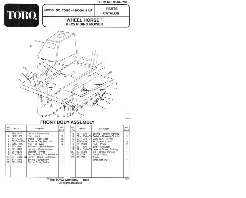 Tractor 1994 8-25 & 8-25e RER D&A OM IPL Wiring SN.pdf - 1991-1997 on polaris 700 wiring diagram, honda 700 wiring diagram, bobcat 700 wiring diagram,